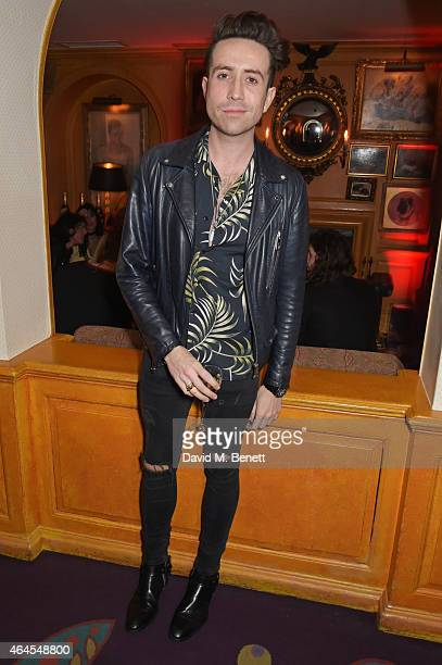 Nick Grimshaw attends the Mert Marcus House of Love party for Madonna at Annabel's on February 26 2015 in London England