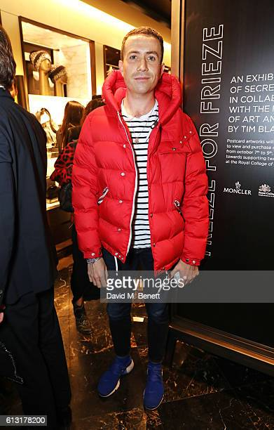 Nick Grimshaw attends the Moncler RCA Freeze For Frieze cocktail reception at the Moncler Bond Street Boutique on October 7 2016 in London United...