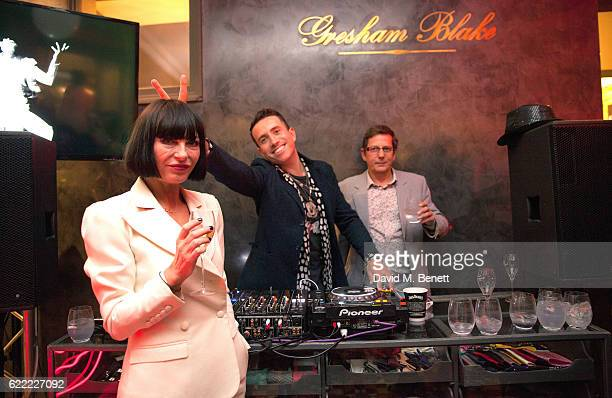 Nick Grimshaw Collette Cooper and guest attend the launch of Collette Cooper's new single 'Perfect Girl' and the 'Collette' suit collaboration with...