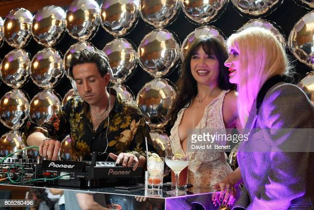Nick Grimshaw Daisy Lowe and JonBenet Blonde at the Tinder Pride 2017 Party at The Ned on July 1 2017 in London England The party hosted by Tinder at...
