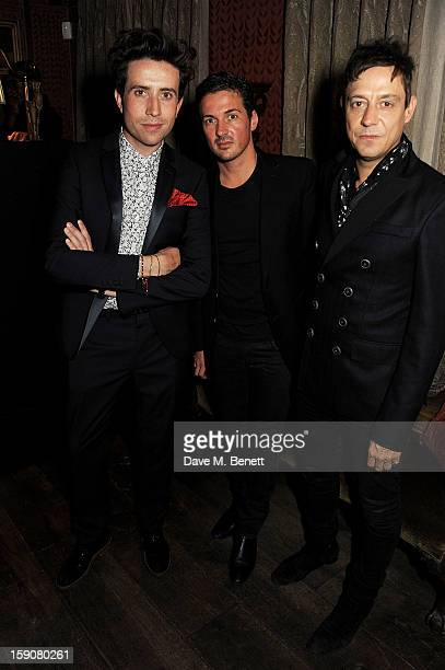Nick Grimshaw Dave Gardner and Jamie Hince attend the Esquire and Tommy Hilfiger party celebrating London Collections MEN AW13 hosted by Esquire...