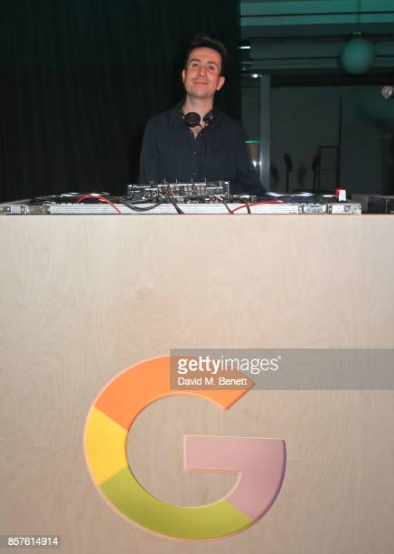 Nick Grimshaw DJs at Google's Pixel 2 phone launch at The Old Selfridges Hotel on October 4 2017 in London England