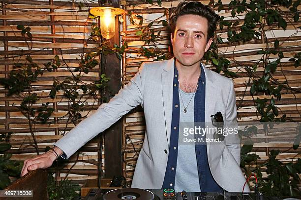Nick Grimshaw DJs at Shoreditch House for the British Fashion Council NEWGEN MEN SS16 winners ceremony hosted by Grey Goose and Soho House on April...