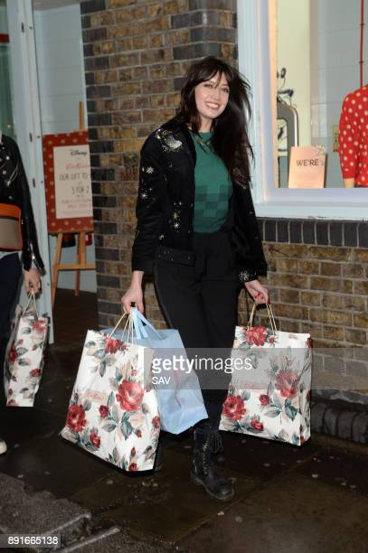 Nick Grimshaw Pixie Geldof and Daisy Lowe spotted shopping at Cath Kidston shop in Covent Garden on December 13 2017 in London England