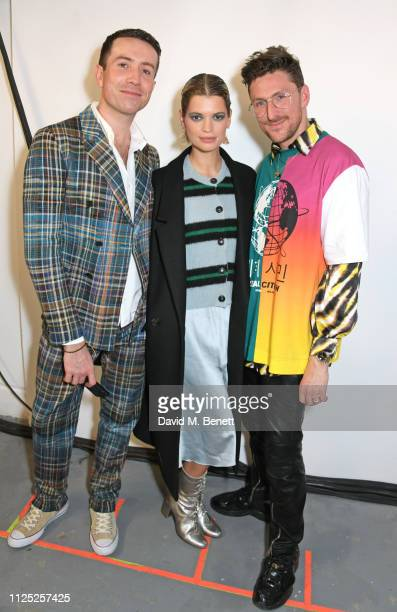 Nick Grimshaw Pixie Geldof and Henry Holland attend the House of Holland AW19 London Fashion Week catwalk show showcasing the limitededition Vype...