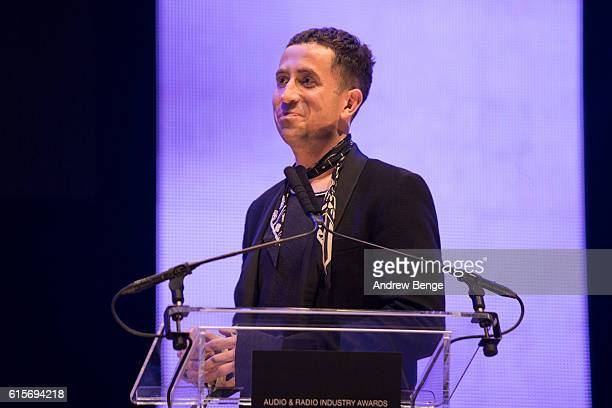 Nick Grimshaw presents the award for Best News Coverage at the Audio Radio Industry Awards at First Direct Arena Leeds on October 19 2016 in Leeds...