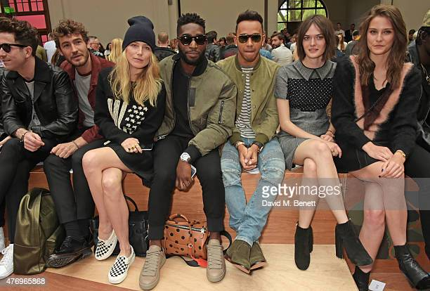 Nick Grimshaw Robert Konjic Dree Hemingway Tinie Tempah Lewis Hamilton Sam Rollinson and Charlotte Wiggins attend the COACH Men's Spring 2016...
