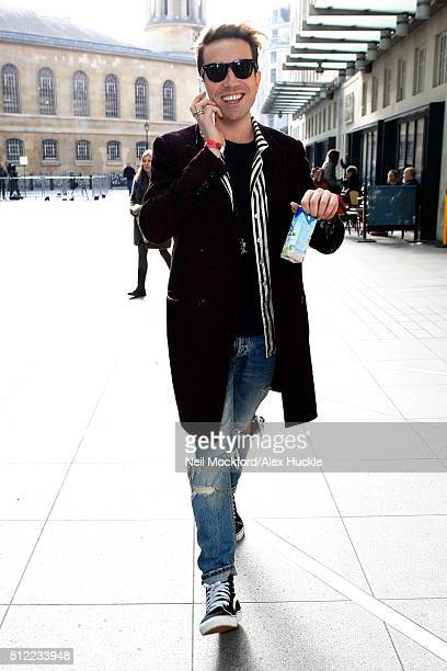 Nick Grimshaw seen at the BBC Radio 1 Studios on February 25 2016 in London England
