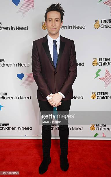 Nick Grimshaw shows his support for BBC Children in Need at Elstree Studios on November 13 2015 in Borehamwood England