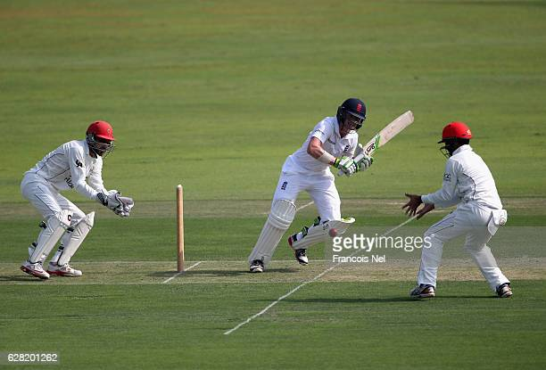 Nick Gubbins of England Lions bats during day one of the tour match between England Lions and Afghanistan at Zayed Cricket Stadium on December 7 2016...