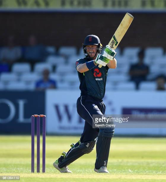 Nick Gubbins of England Lions bats during the TriSeries International match between England Lions and India A at The 3aaa County Ground on June 22...