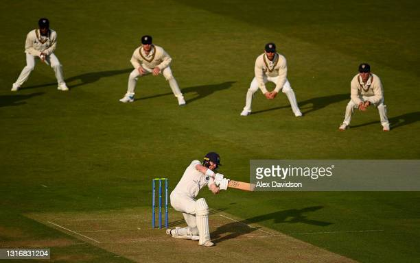 Nick Gubbins of Middlesex bats during Day Two of the LV= Insurance County Championship match between Middlesex and Gloucestershire during at Lord's...