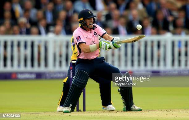 Nick Gubbins of Middlesex bats during the NatWest T20 Blast match between Middlesex and Hampshire at Lord's Cricket Ground on August 3 2017 in London...