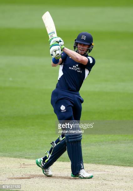 Nick Gubbins of Middlesex bats during the Royal London OneDay Cup match between Surrey and Middlesex at The Kia Oval on May 5 2017 in London England