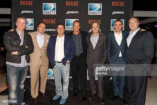 Nick Hamm Chris Long Michael Rosenberg Cole Hauser Dan York Matthew Parkhill Bart Peters celebrate the second season premiere of DIRECTV's ROGUE at...
