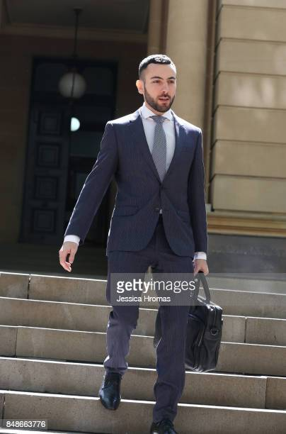 Nick Hanna from Hanna Legal the legal representative for Michael and Fadi Ibrahim leaves the Sydney Central Local Court on September 18 2017 in...