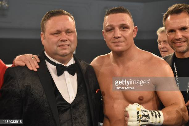 Nick Hannig and Paul Potts during Petko's Fight Night at Maritim Hotel on October 26 2019 in Berlin Germany