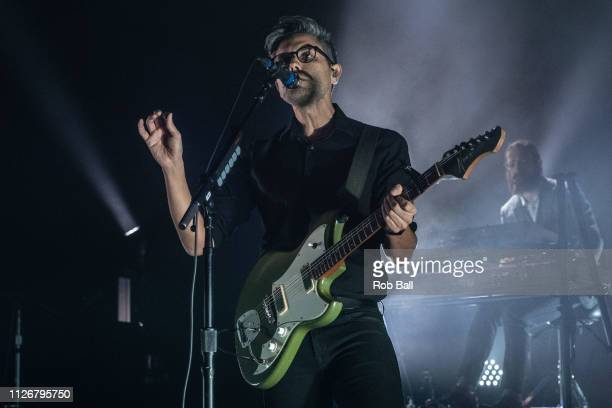 Nick Harmer from Death Cab For Cutie performs at Eventim Apollo Hammersmith on February 01 2019 in London England