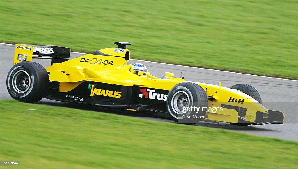 Jordan F1 Testing at Silverstone : News Photo