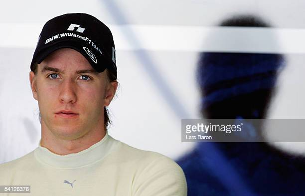 Nick Heidfeld of BMW and Germany is seen in the garage during the first free practice for the Italian F1 Grand Prix on September 2, 2005 in Monza,...