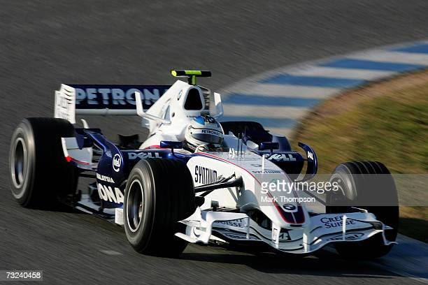 Nick Heidfeld of Germany and BMW in action during Formula One testing at the Circuit De Jerez on February 7, 2007 in Jerez de la Frontera, Spain.