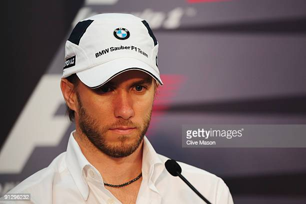 Nick Heidfeld of Germany and BMW Sauber attends the drivers press conference during previews to the Japanese Formula One Grand Prix at Suzuka Circuit...