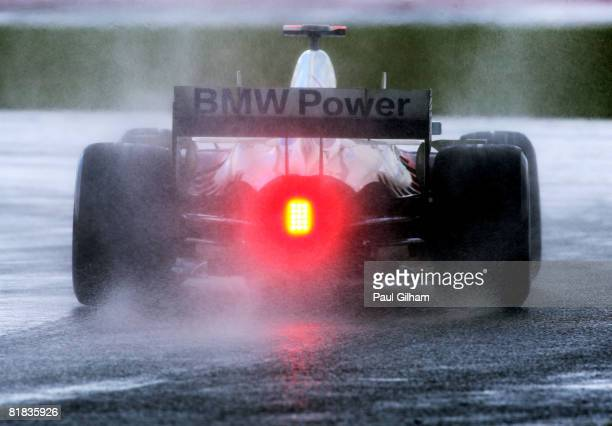 Nick Heidfeld of Germany and BMW Sauber in action during the British Formula One Grand Prix at Silverstone on July 6, 2008 in Northampton, England.