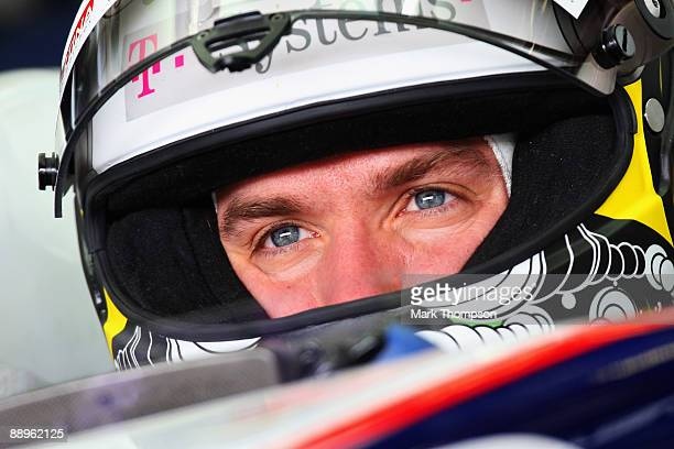Nick Heidfeld of Germany and BMW Sauber prepares to drive during practice for the German Formula One Grand Prix at Nurburgring on July 10, 2009 in...