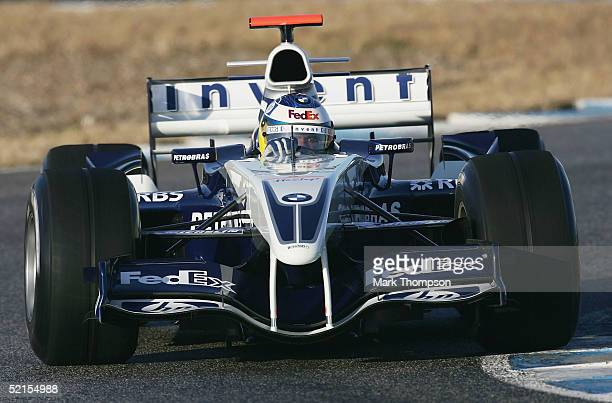 Nick Heidfeld of Germany and BMW Williams in action during testing at Circuito de Jerez on February 8 2005 in Jerez Spain