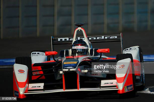 Nick Heidfeld of Germany and Mahindra Racing during the Mexico City Formula E Championship 2016 at Autodromo Hermanos Rodriguez on March12, 2016 in...