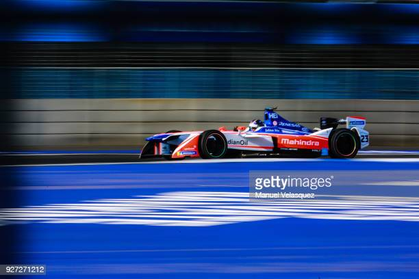 Nick Heidfeld of Germany and Mahindra Team competes during the Mexico E-Prix as part of the Formula E Championship at Autodromo Hermanos Rodriguez on...