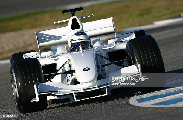 Nick Heidfeld of Germany and team BMW in action during testing at Circuito de Jerez on January 11 2006 in Jerez Spain