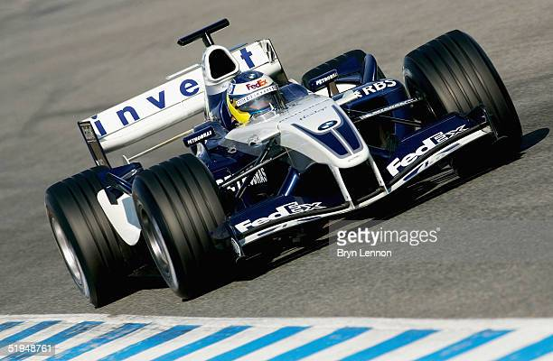 Nick Heidfeld of Germany drives the Williams during Formula One Testing at the Circuito de Jerez on January 13 2005 in Jerez de La Frontera Spain