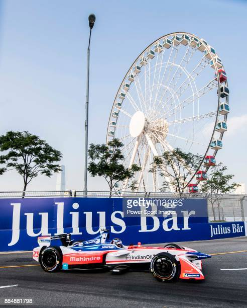 Nick Heidfeld of Germany from Mahindra Racing competes during the FIA Formula E Hong Kong E-Prix Round 2 at the Central Harbourfront Circuit on 03...