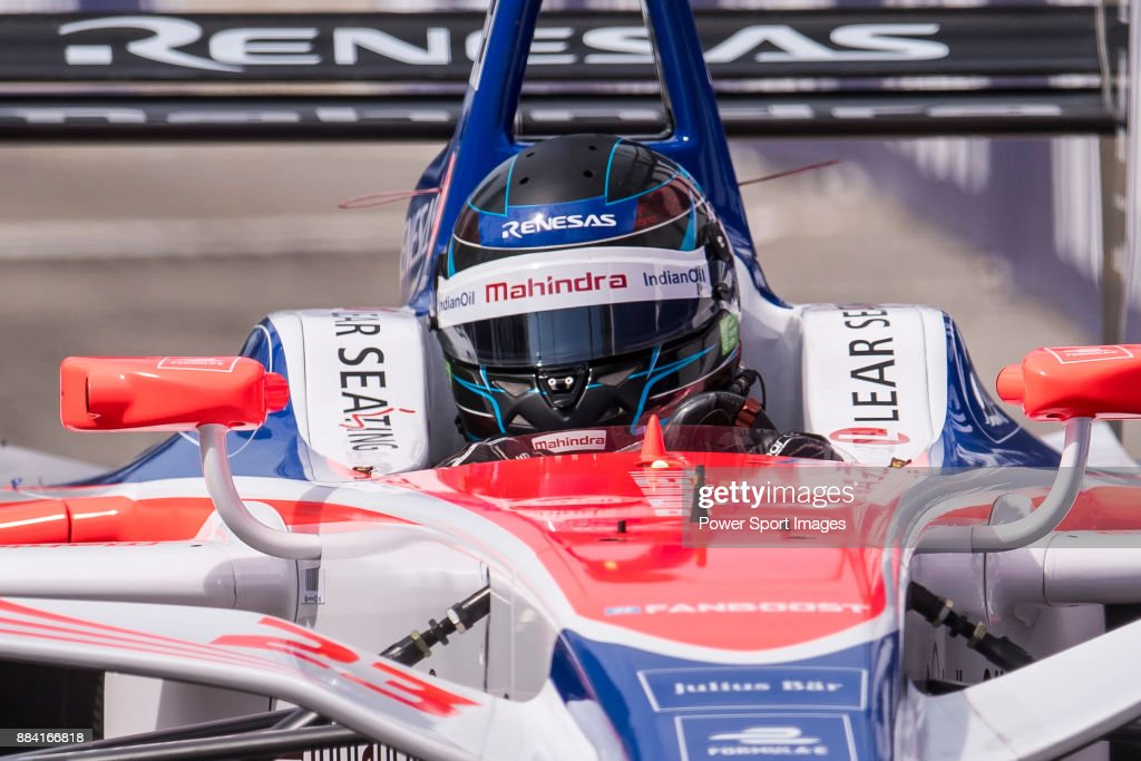 Nick Heidfeld of Germany from Mahindra Racing competes in the Formula E Qualifying Session 1 during Formula E on December 2, 2017 in Hong Kong, Hong Kong.