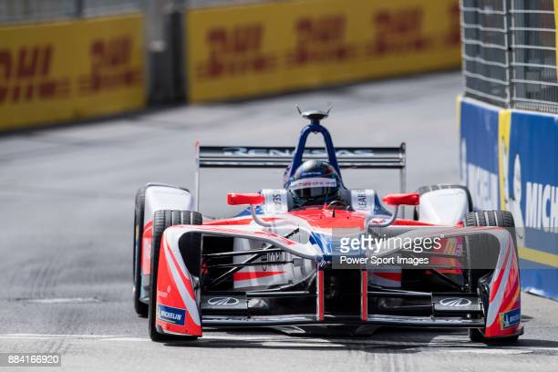 Nick Heidfeld of Germany from Mahindra Racing competes in the Formula E Qualifying Session 1 during Formula E on December 2, 2017 in Hong Kong, Hong...