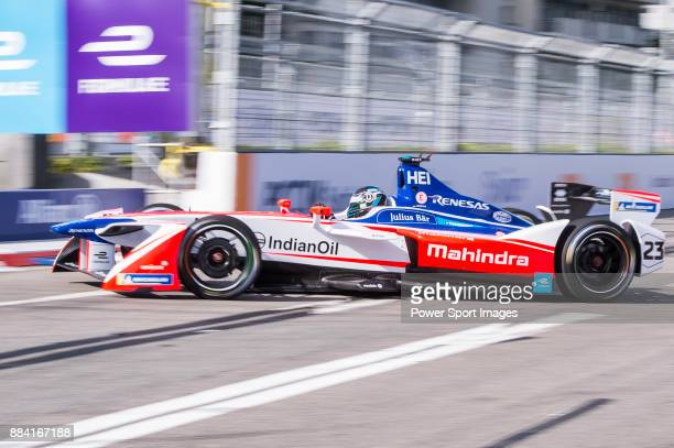 Nick Heidfeld of Germany from Mahindra Racing competes in the Formula E Non-Qualifying Practice 2 during Formula E on December 2, 2017 in Hong Kong,...