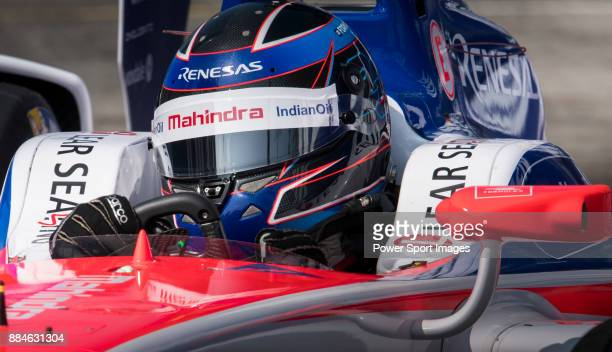 Nick Heidfeld of Germany from Mahindra Racing competes in the Formula E Qualifying Session 2 during the FIA Formula E Hong Kong E-Prix Round 2 at the...