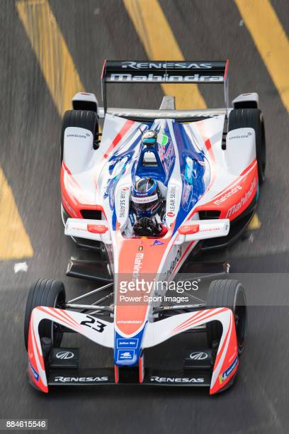 Nick Heidfeld of Germany from Mahindra Racing on track at the Formula E Non-Qualifying Practice 3 during the FIA Formula E Hong Kong E-Prix Round 2...