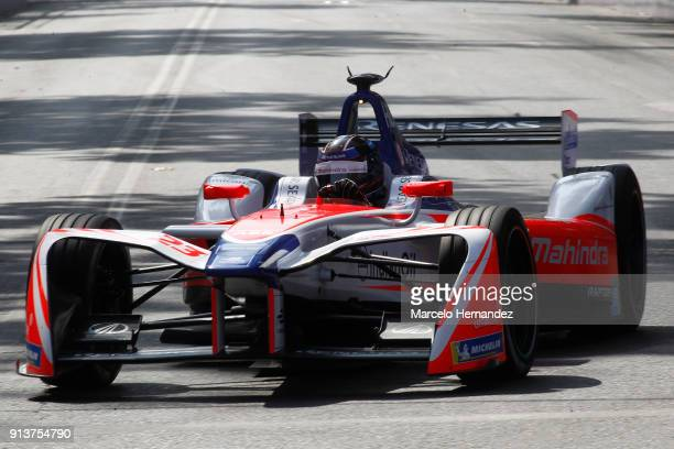 Nick Heidfeld of Germany, Mahindra Racing drives during the qualifying laps as part of the ABB Formula-E Antofagasta Minerals Santiago E-Prix on...