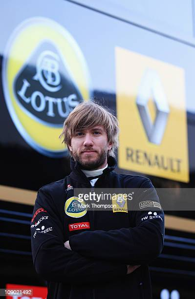Nick Heidfeld of Germany prepares to test for the Renault team as a possible replacement for the injured Robert Kubica during day three of winter...