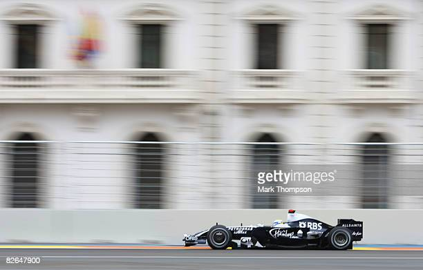 Nick Heidfield of Germany and BMW Sauber in action during qualifying for the European Formula One Grand Prix at the Valencia Street Circuit on August...