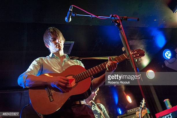 Nick Hemming of The Leisure Society performs on stage at Electric Circus on November 28 2013 in Edinburgh United Kingdom