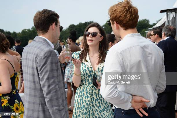 Nick Hendrix Aisling Bea and James Norton attend the Audi Polo Challenge at Coworth Park Polo Club on July 1 2018 in Ascot England