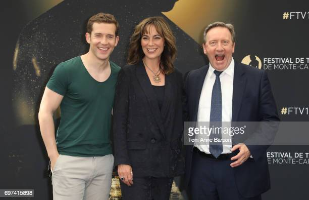 """Nick Hendrix, Fiona Dolman, Neil Dudgeon attends """"Midsomer Murders"""" Photocall as part of the 57th Monte Carlo TV Festival at the Grimaldi Forum on..."""
