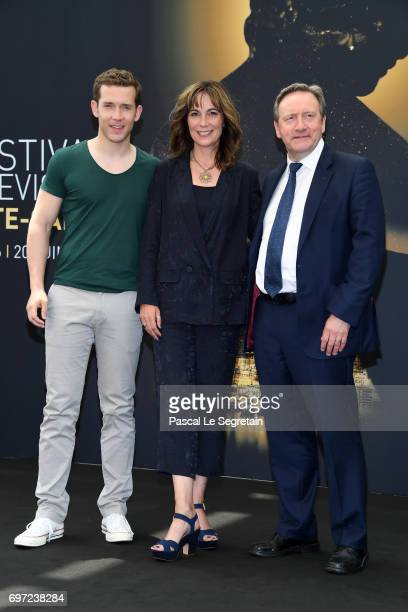 Nick Hendrix,Fiona Dolman and Neil Dudgeon from 'Midsomer Murders' attend a photocall during the 57th Monte Carlo TV Festival : Day 3 on June 18,...