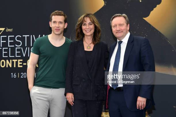 Nick HendrixFiona Dolman and Neil Dudgeon from 'Midsomer Murders' attend a photocall during the 57th Monte Carlo TV Festival Day 3 on June 18 2017 in...