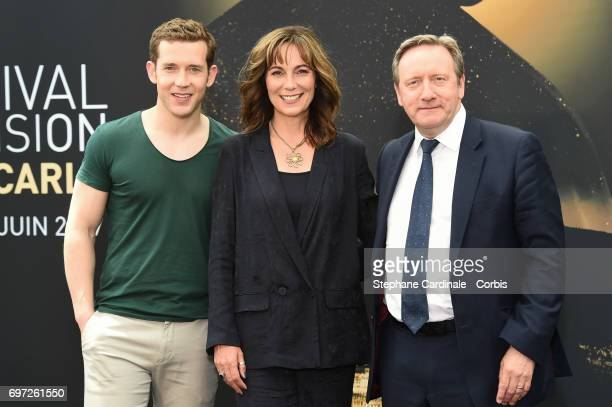 Nick Hendrix,Fiona Dolman and Neil Dudgeon from 'Midsomer Murders' TV Show pose for a Photocall during the 57th Monte Carlo TV Festival : Day Three...