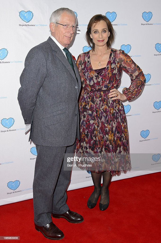 Nick Hewer and Kristin Scott Thomas attends the UK Premiere of 'Finding Family' at Vue West End on November 5, 2013 in London, England.
