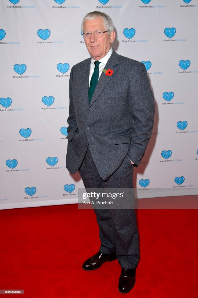 Nick Hewer attends the UK Premiere of 'Finding Family' at Vue West End on November 5, 2013 in London, England.